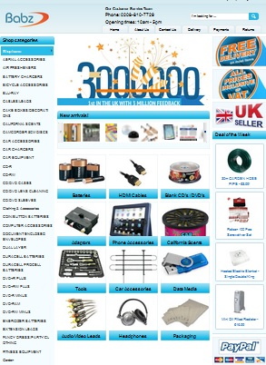 First UK seller to reach 3 million feedback – congratulations Babzmedia