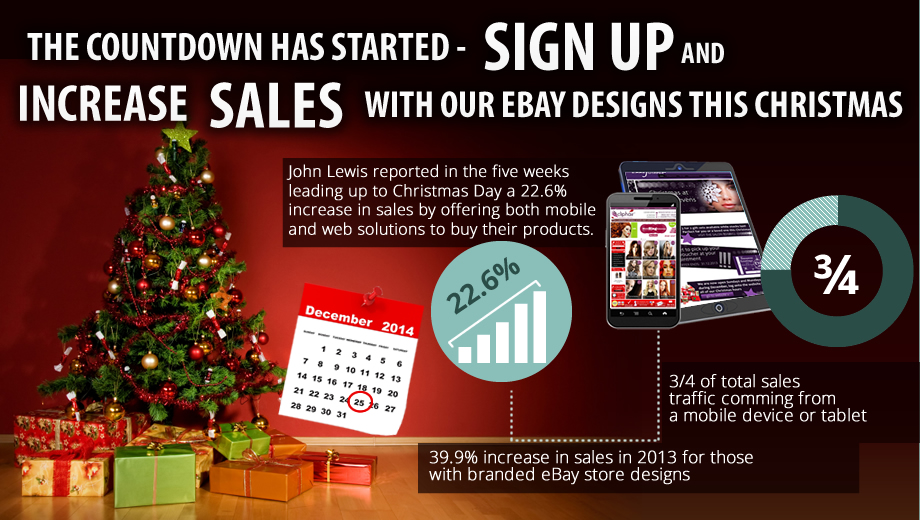 Increases sales this Christmas with our eBay Designs