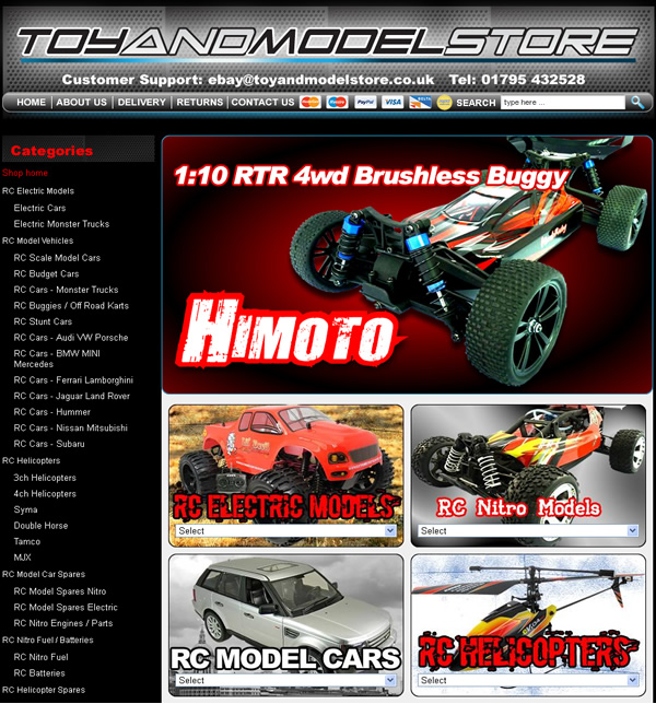 Toy and Model Store