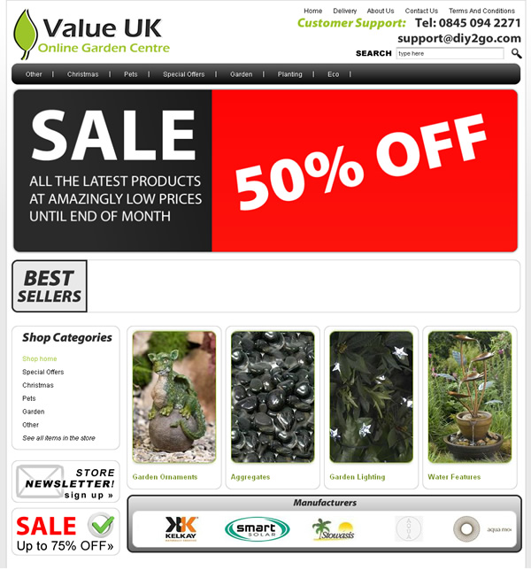 Value UK Online Garden Centre