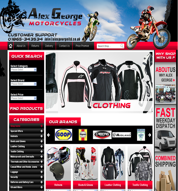 Alex George Motorcycle