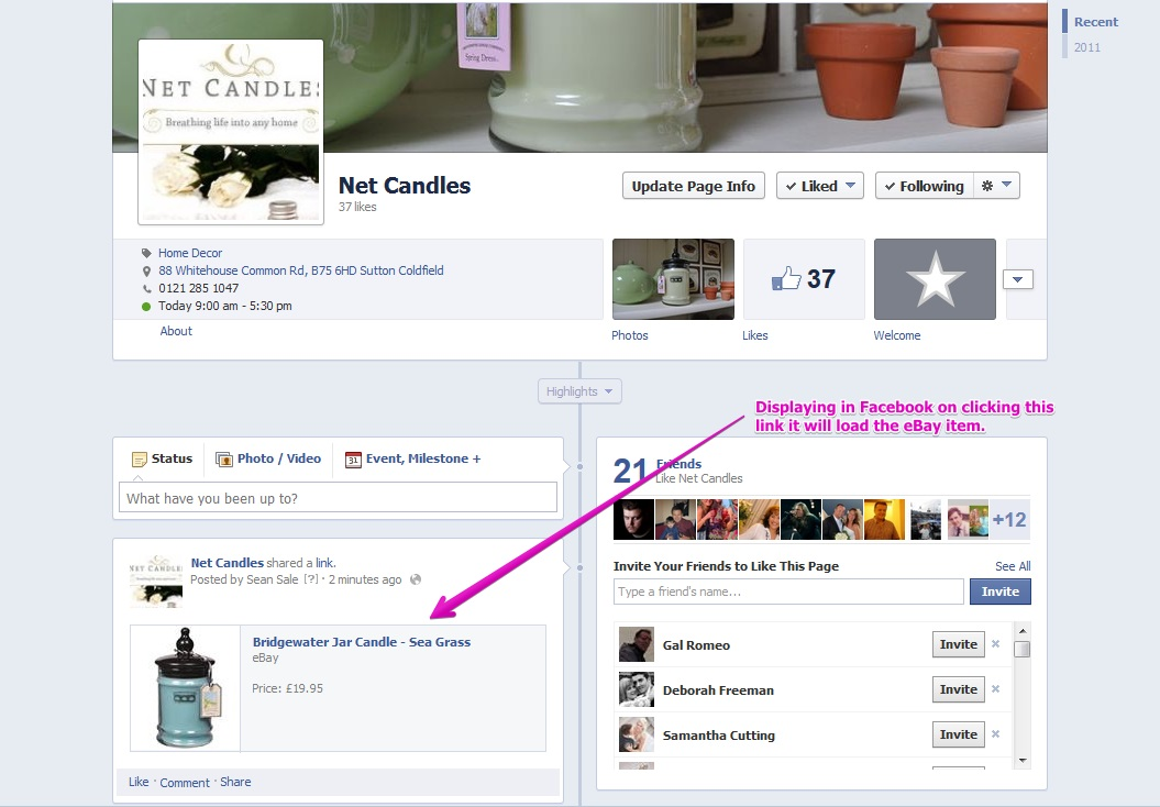 Promote items you're selling on eBay across social networks like Facebook and Twitter