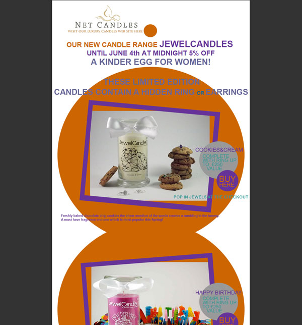 NetCandles Newsletter Design May