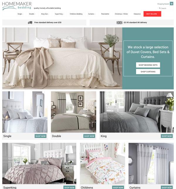 Homemaker bedding