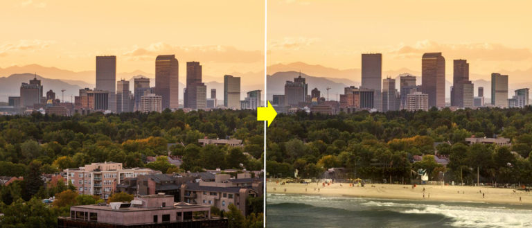 Adobe Scene Stitch - photo editing using AI