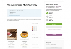 Multiple currency woocommerce plugin